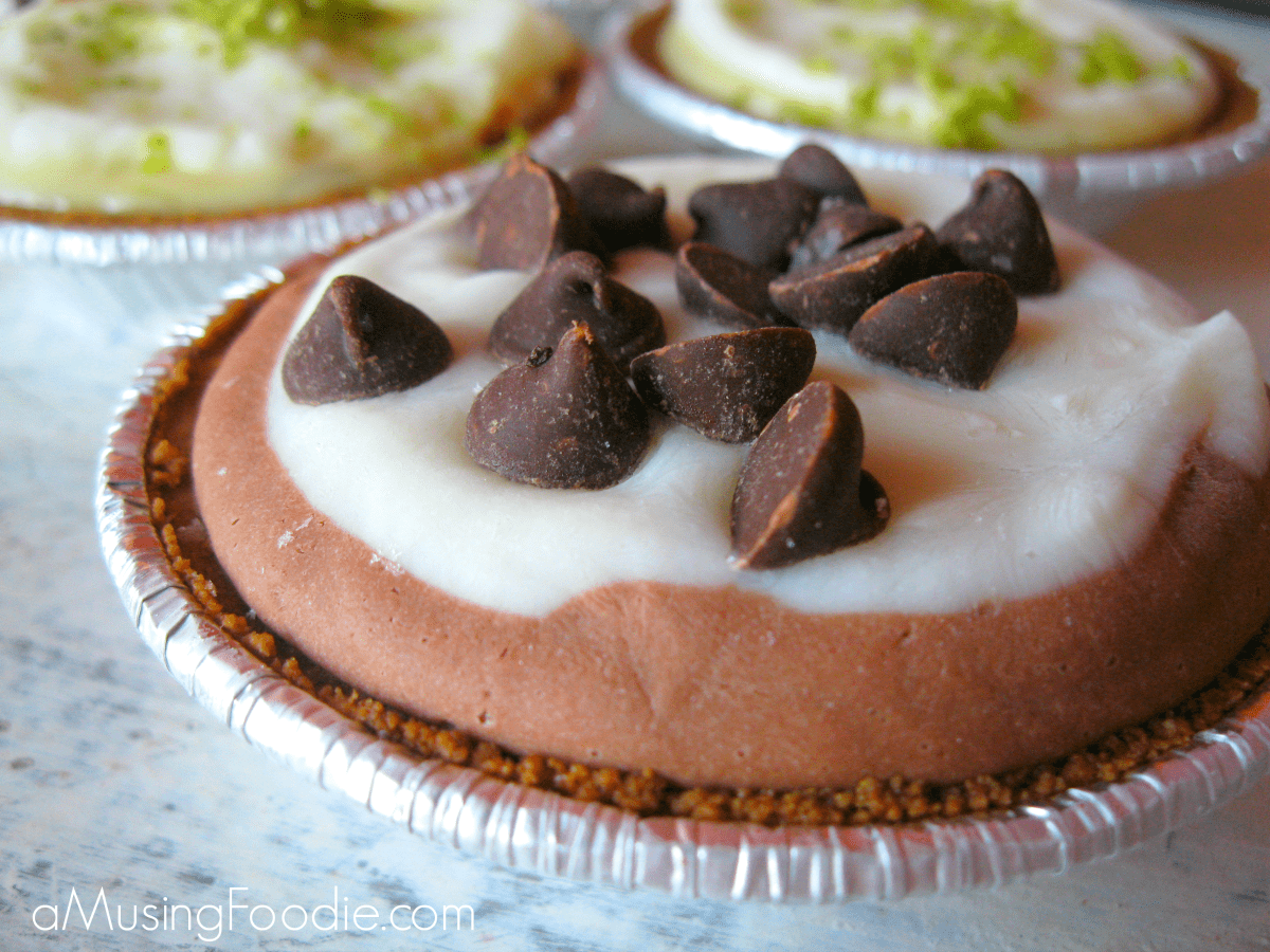 Mini Chocolate Frozen Yogurt Pies