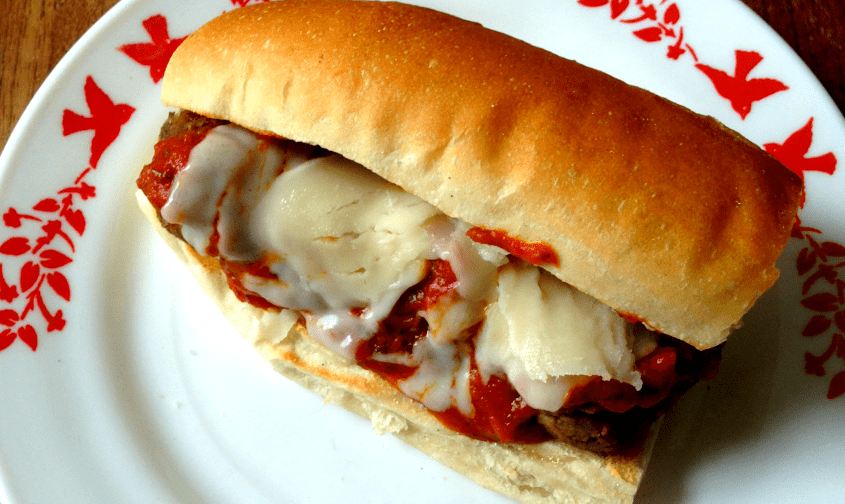 "This vegetarian ""meatball"" sub is a nice meatless alternative to the classic!"