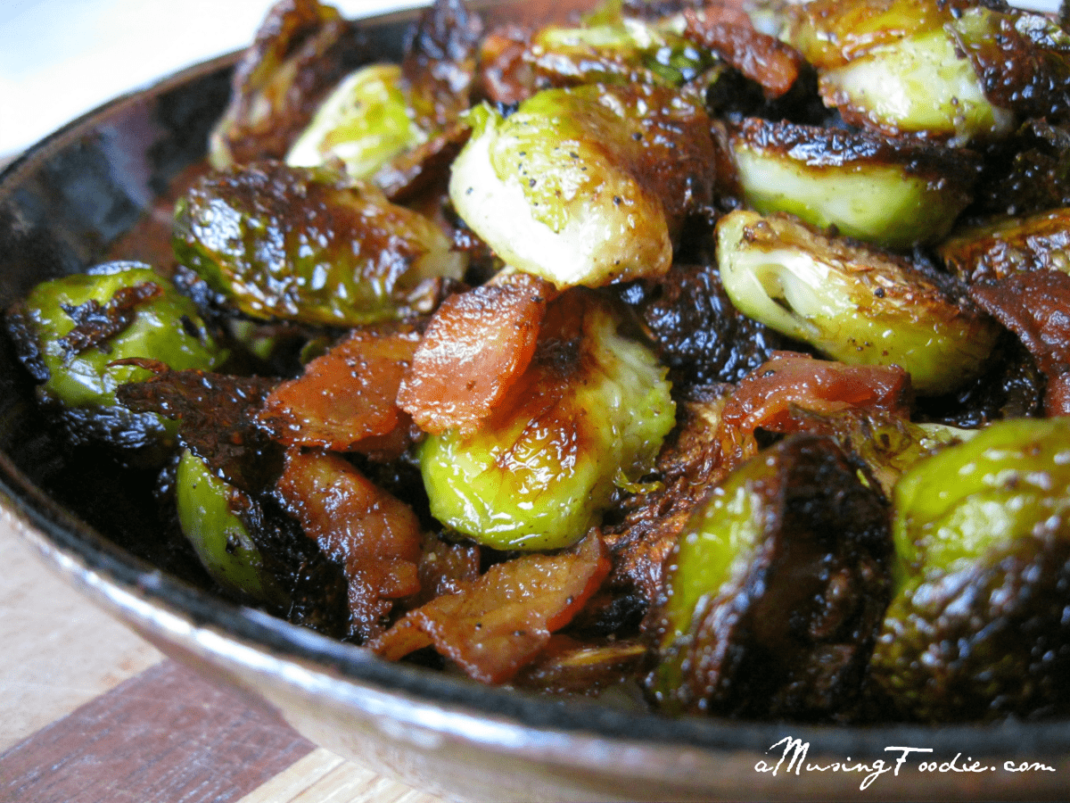 Amazing ... : Braised Brussels Sprouts with Bacon, Golden Raisins and ...