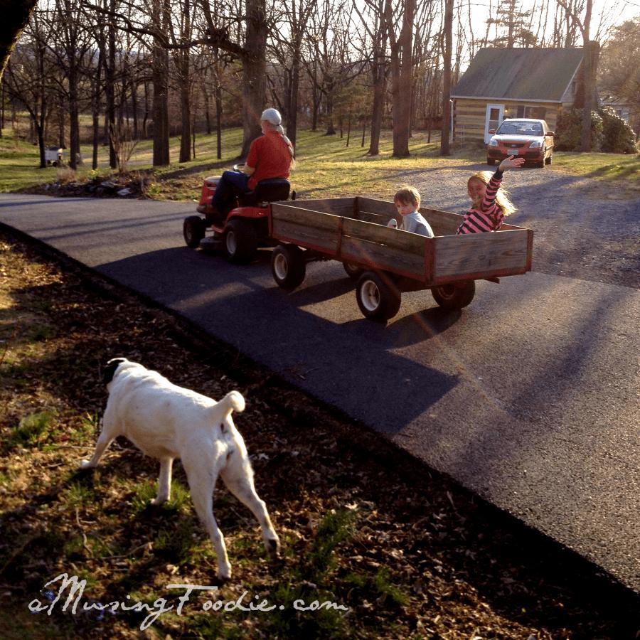 Wagon Ride at the Farm