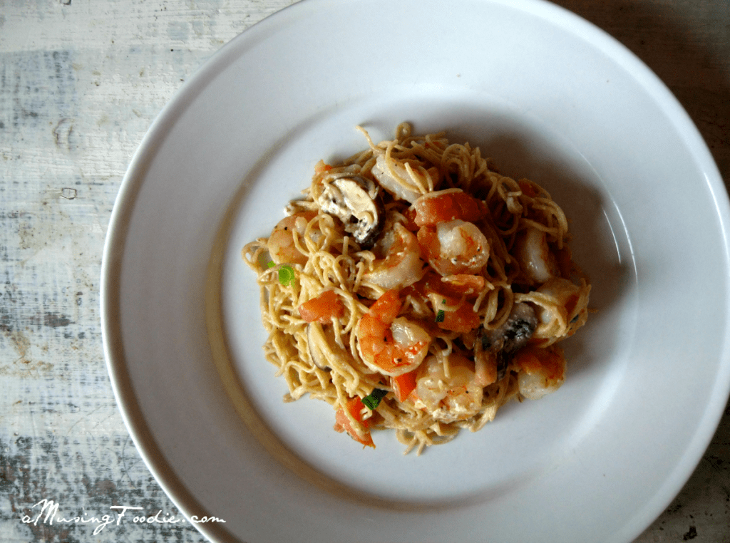 Whole Wheat Shrimp Pasta