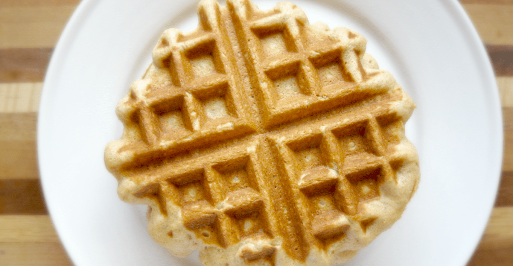 Honey whole wheat waffles are a hearty (and delicious!) way to start your morning—kids love them!
