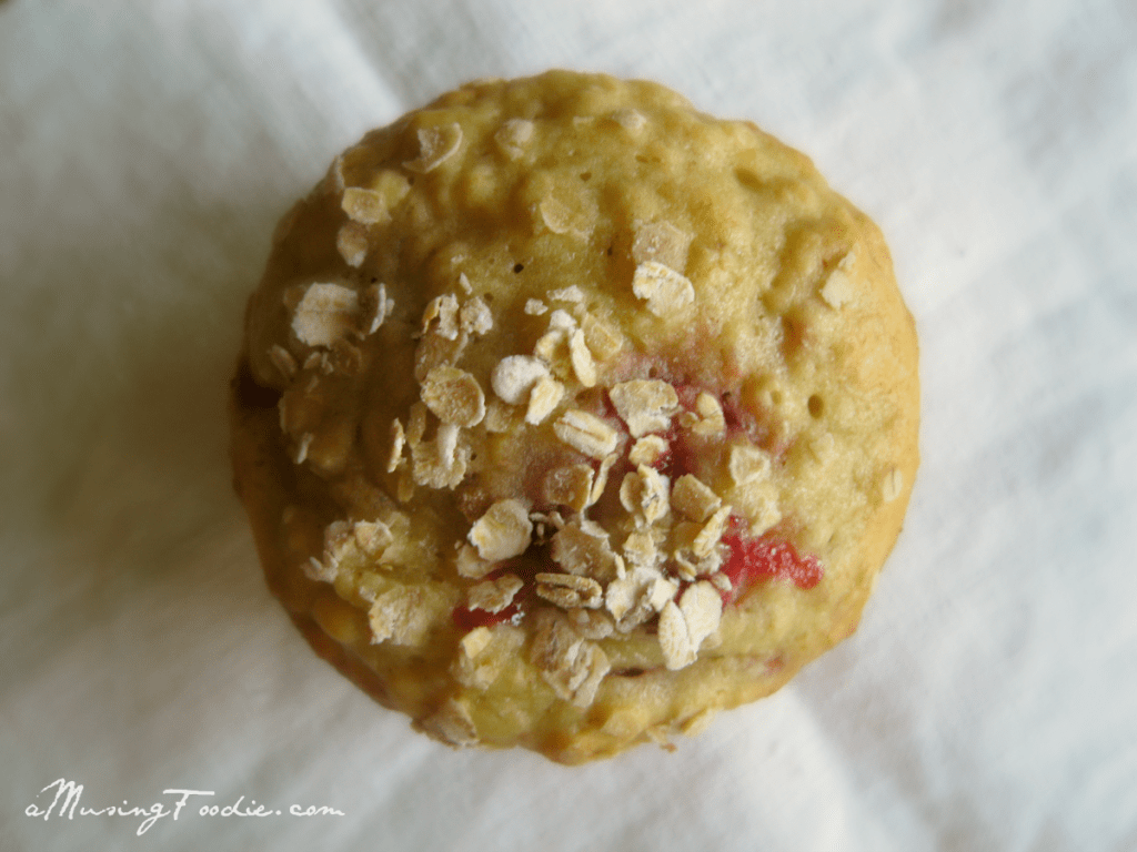 Strawberry Banana Oatmeal Muffins