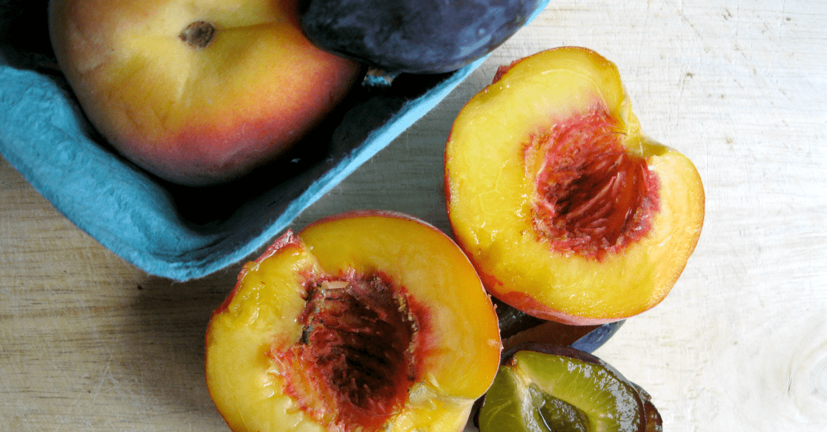 Peaches and Plums for the Peach Plum Tart
