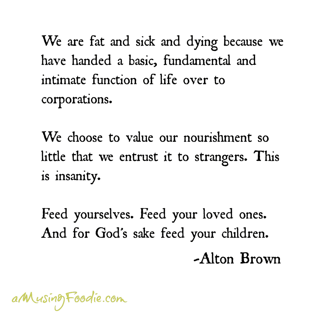 Alton Brown Food Quote