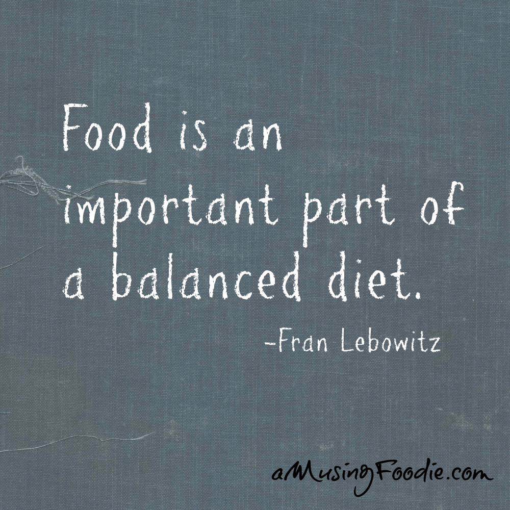 Fran Lebowitz Food Quote