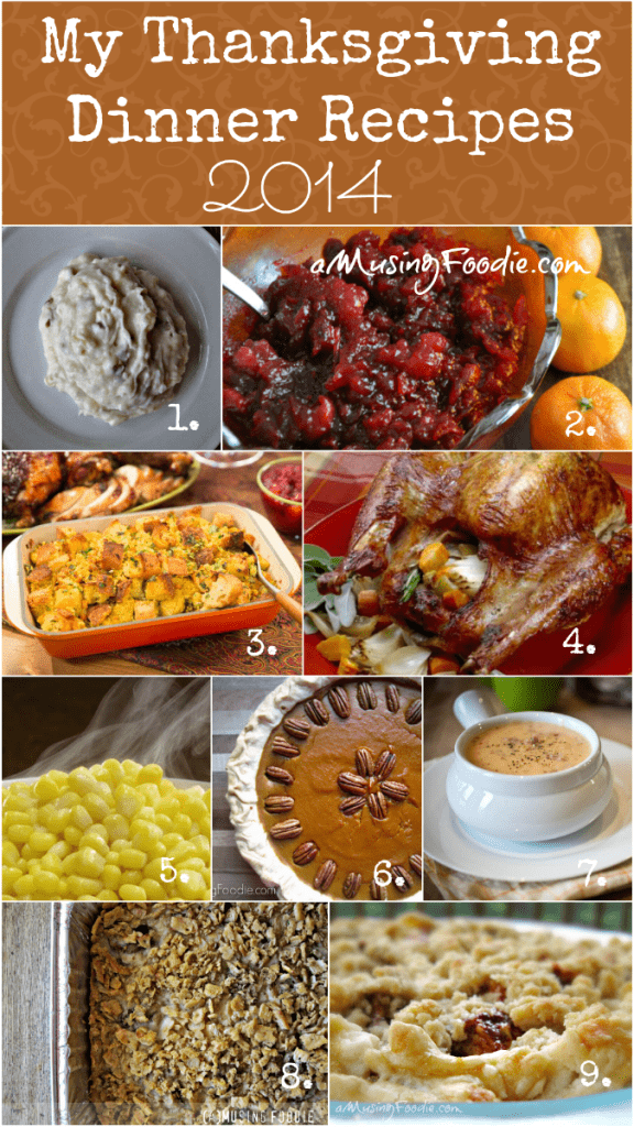 My 2014 Thanksgiving Recipes