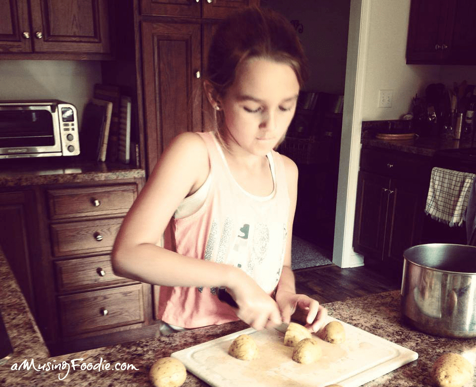 Tween Helping in the Kitchen