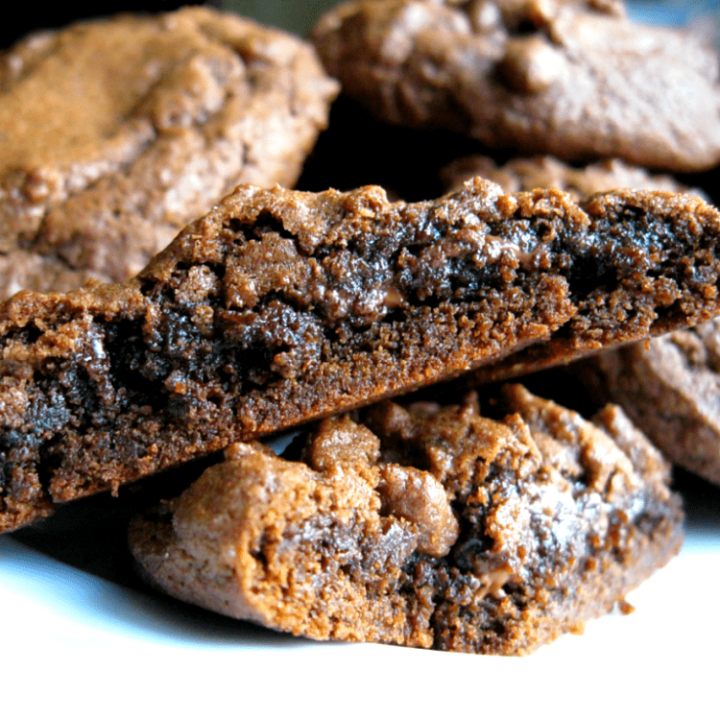 Gooey chocolate-filled cocoa cookies are all the richness of a brownie, with the oozy-ness of a molten lava cake.
