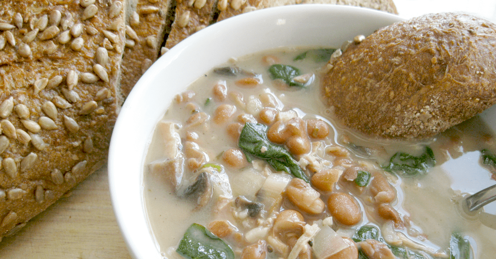 This hearty chicken and pinto bean soup will warm you to the bone!