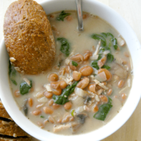 Hearty Chicken and Pinto Bean Soup