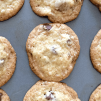 Chocolate Chip Cookies Made With Coconut Oil