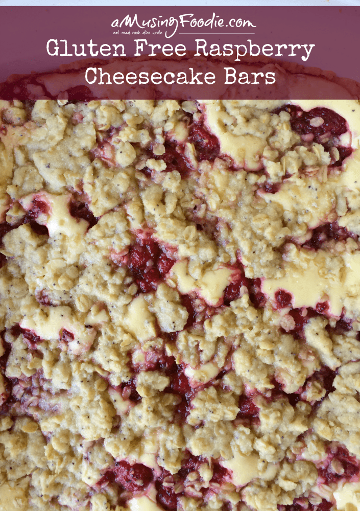 Gluten Free Raspberry Cheesecake Bars