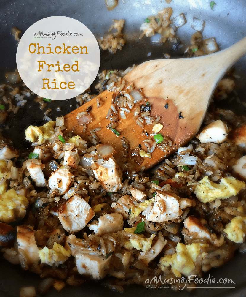 Chicken Fried Rice - a cheap and easy weeknight meal!