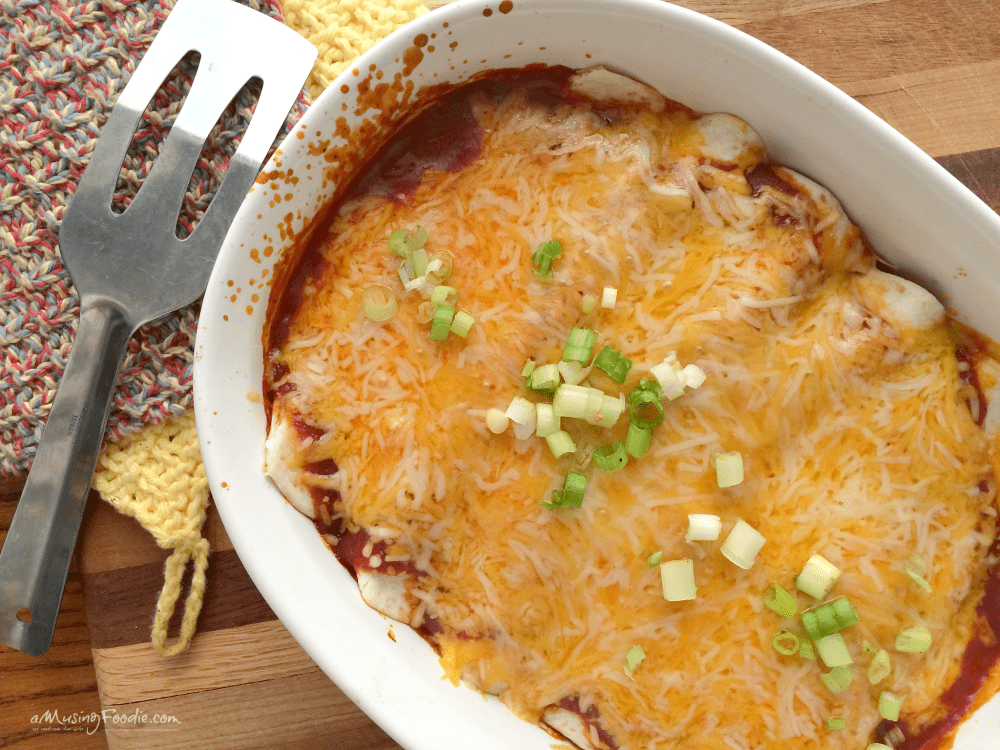 Cheesy Barbecue Chicken Enchiladas!