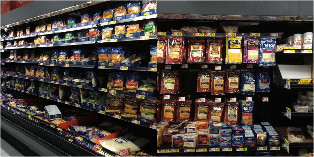 Kraft Natural Shreds at Walmart
