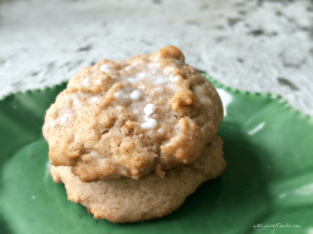 Glazed Cinnamon Cookies