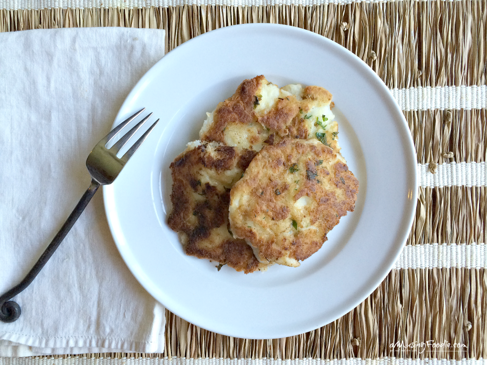Use leftover mashed potatoes to make these dreamy, buttery, melt-in-your-mouth mashed potato pancakes! Sooo good, and ready in less than 15 minutes (using leftovers)!