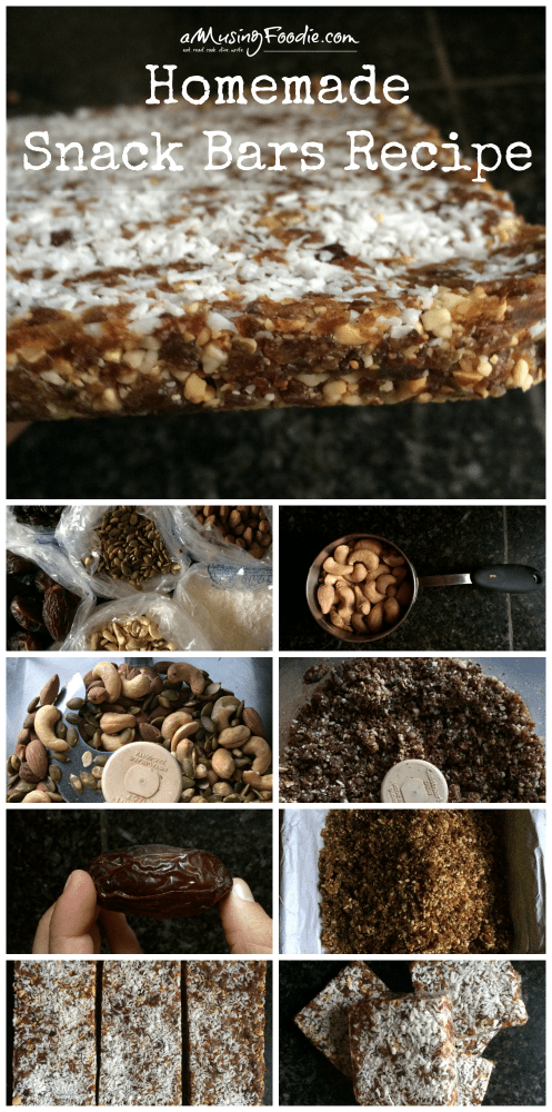 Homemade Snack Bars Recipe: think Larabars meet Clif Bars! Super easy, VEGAN, gluten free and delicious!