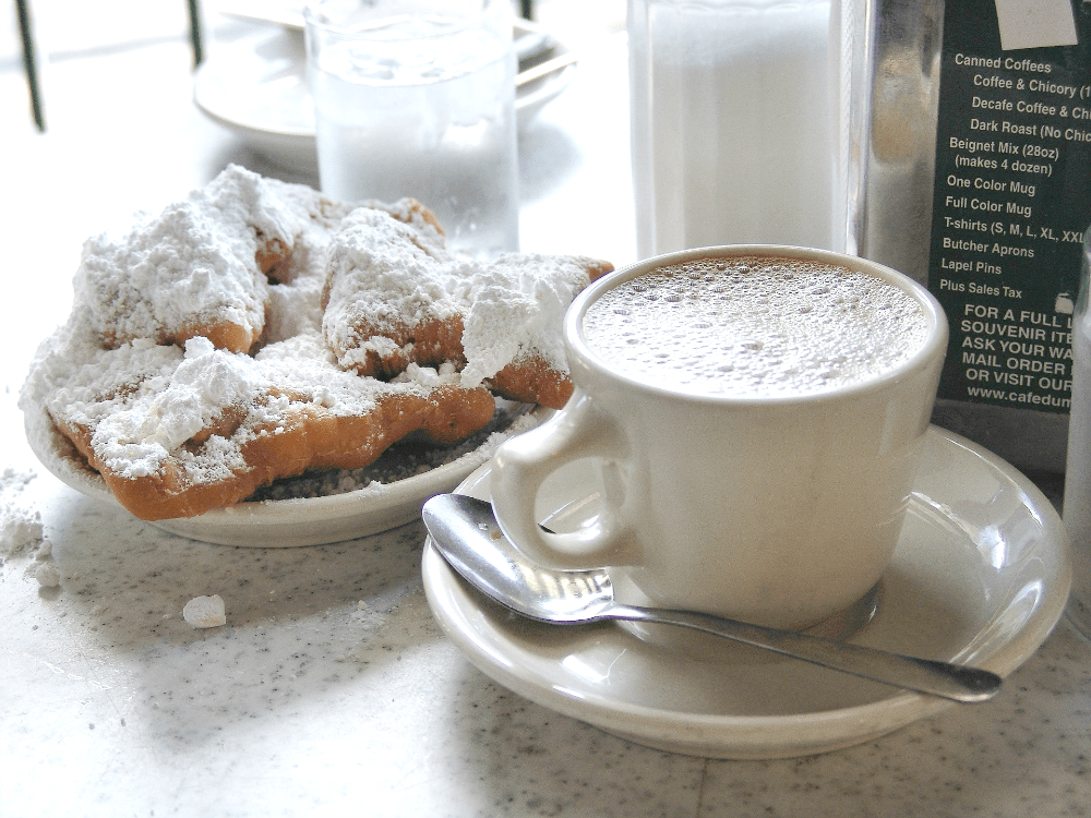 Cafe Du Monde beignets and coffee in New Orleans