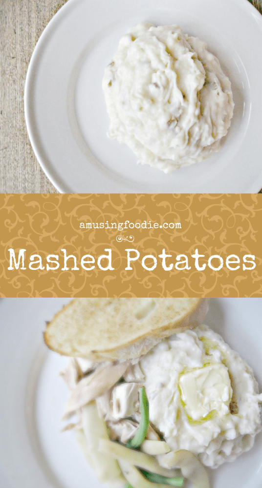 Homemade mashed potatoes are soooo simple to make. You'll never buy pre-maid or [cringe] potato flakes again!