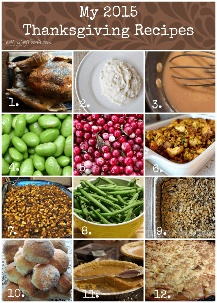 My 2015 Thanksgiving Recipes