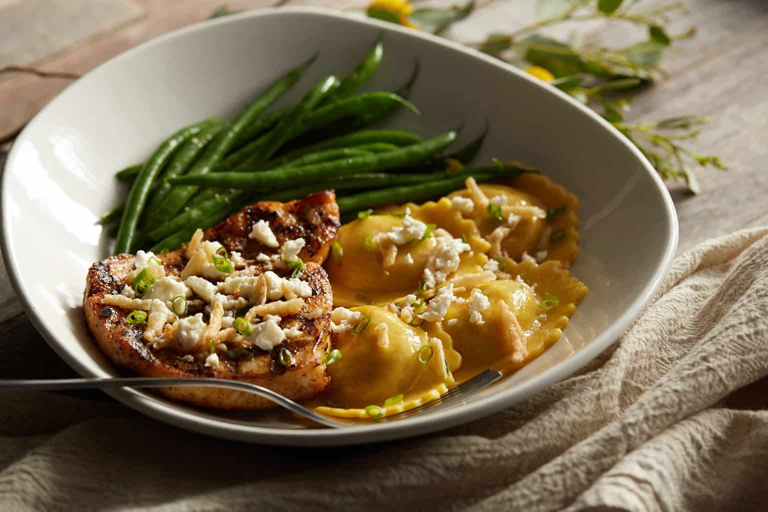 Pumkin Ravioli at Bonefish Grill