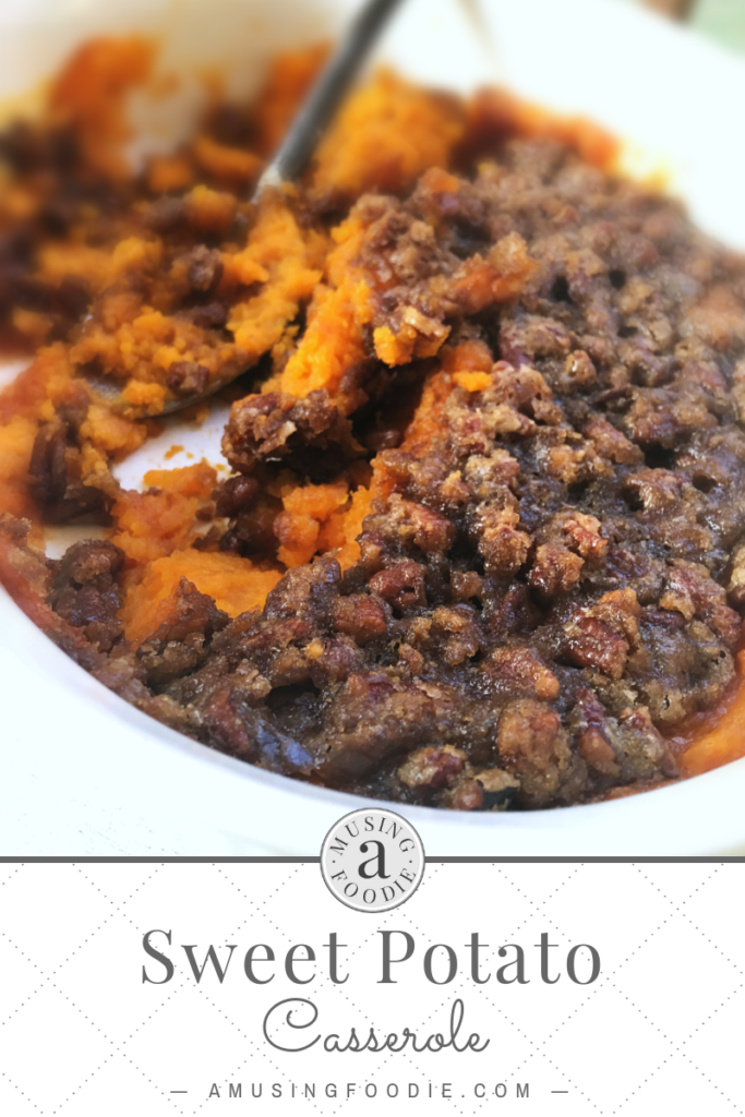 The very best sweet potato casserole EVER. And not a marshmallow in sight!