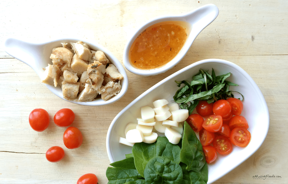 Ingredients for Italian Caprese Pasta Salad