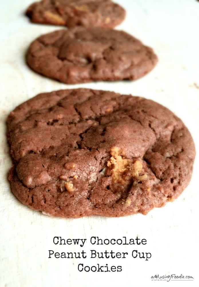 Chewy Chocolate Peanut Butter Cup Cookies - YUM!!!!