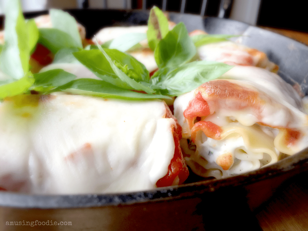 Lasagna Rolls in a Cast Iron Skillet!