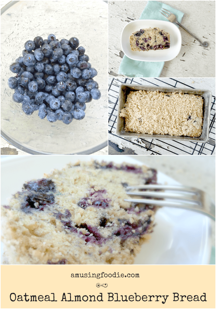 This oatmeal almond blueberry bread made with hearty steel cut oats and juicy, tart blueberries will be your go-to yummy breakfast treat or after school snack!