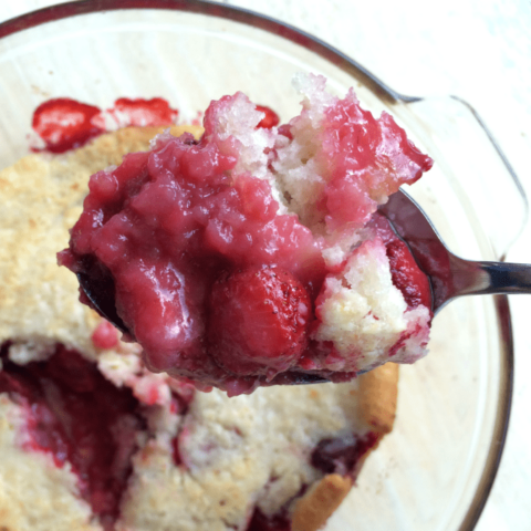 Easy Strawberry Cobbler -- so simple to make, so yummy to eat!!!
