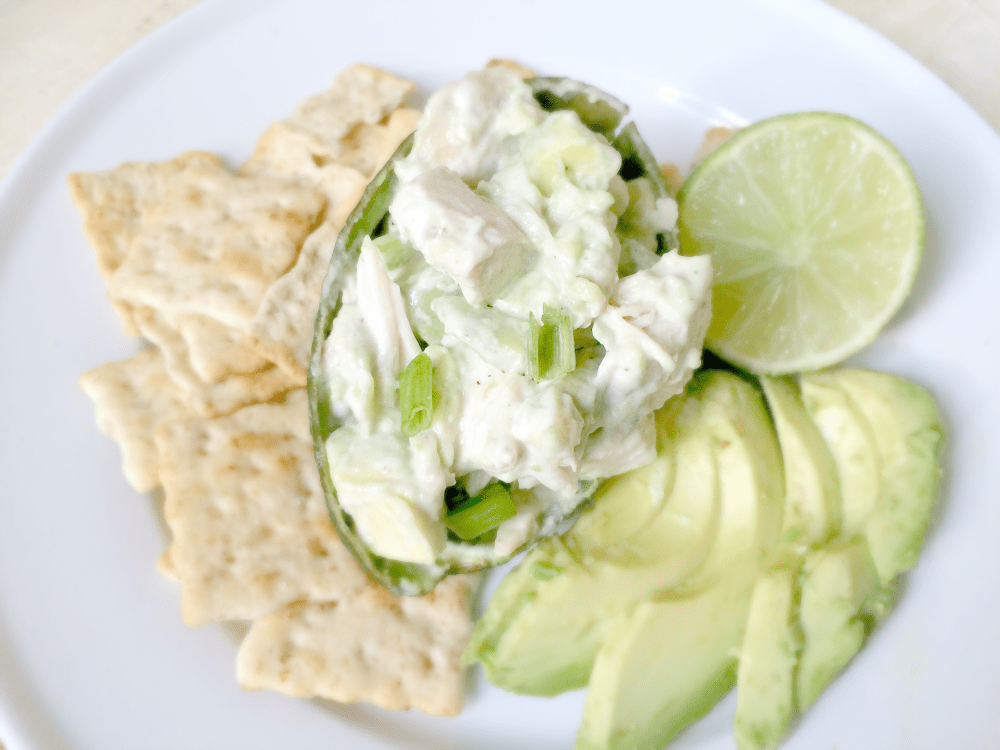 This simple recipe is chock full of flavor with generous chunks of ripe avocado, and savory cubed roast chicken. Avocado chicken salad is great eaten on its own, or atop toasted crusty bread to make a hearty, delectable sandwich!