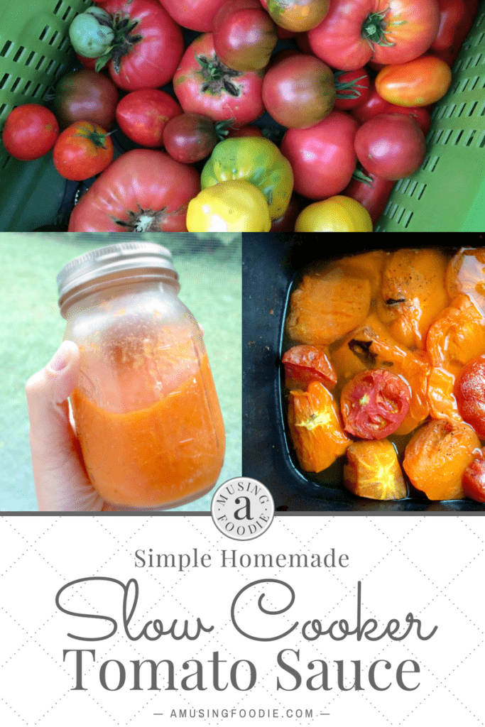 Make and store homemade tomato sauce a different and simpler way with your slow cooker!