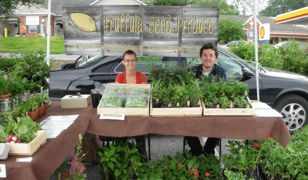 Eat Local: Josie and Shawn at the farmers' market!