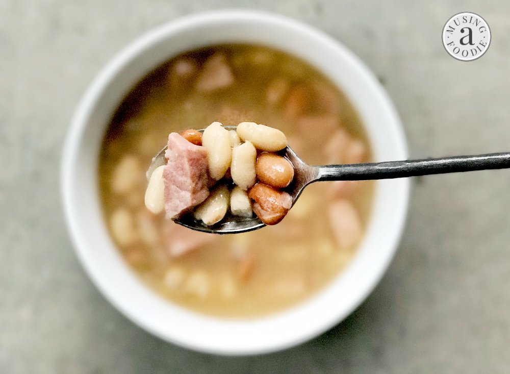 With only five ingredients and lots of deep savory flavor, this Instant Pot ham and bean soup will become a fast favorite!