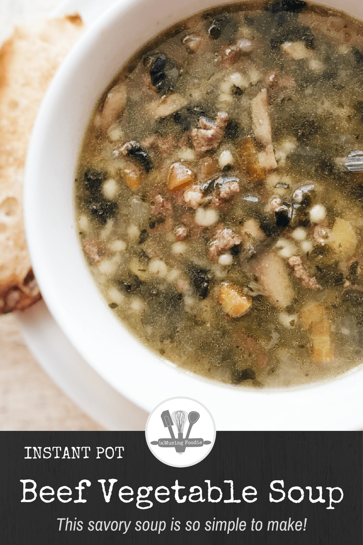 This savory beef vegetable soup is so simple to make in your Instant Pot!