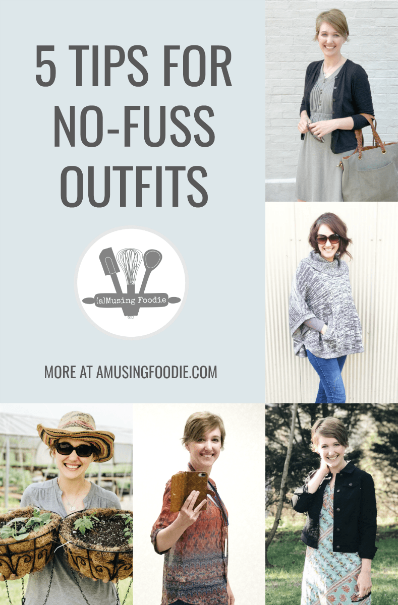 It's possible to be fashionable and practical with these 5 tips for no-fuss outfits.