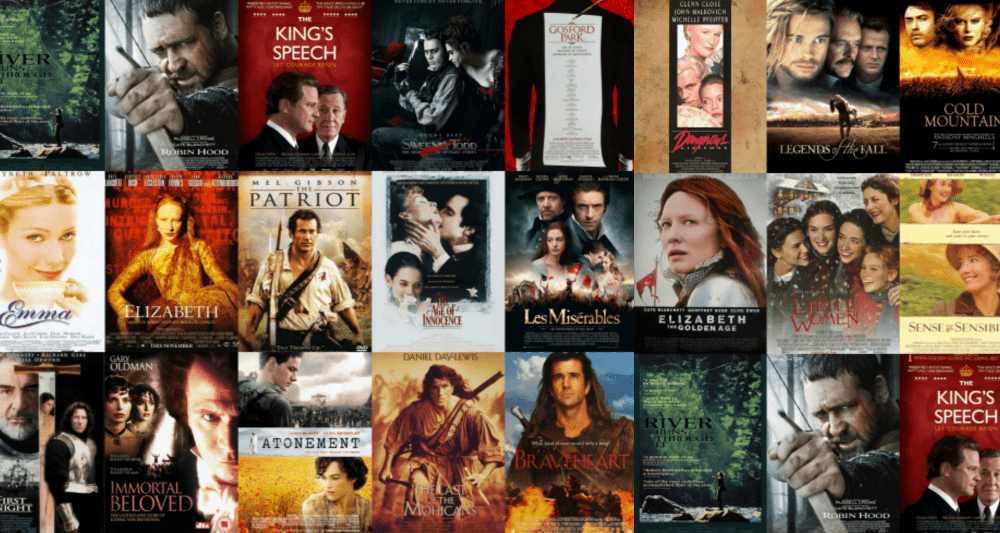 Period drama movies you can stream.