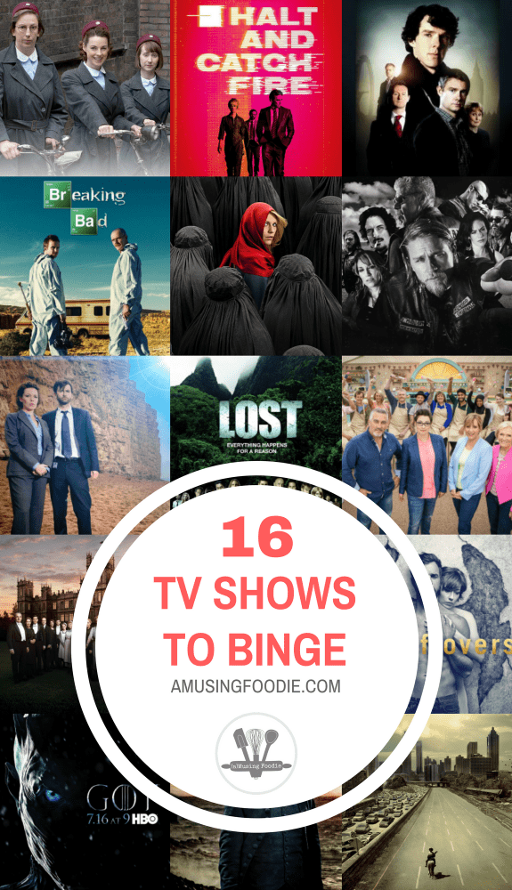 If you're at a loss for something to enjoy, here are are 16 TV shows to binge that I've watched over the years—and loved.