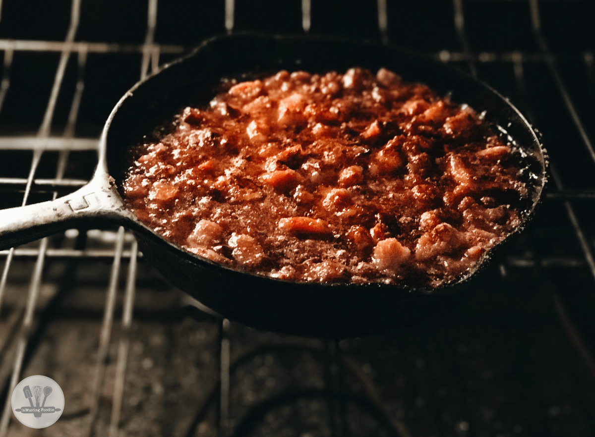 A summer BBQ isn't complete without these easy-to-make sweet and savory baked beans with bacon.