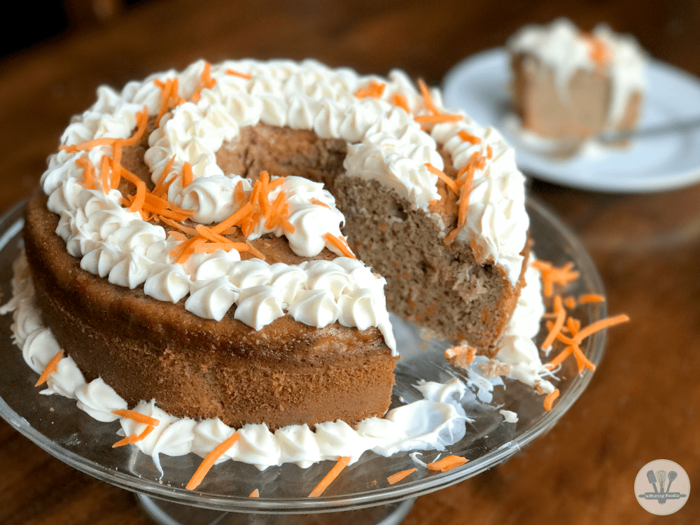 This super easy carrot cake is full of flavor, loaded with spices, and perfect for fall!