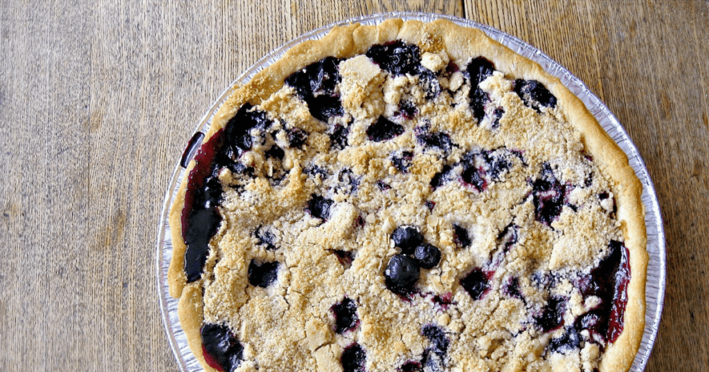 Use fresh or frozen fruit to make this easy and delicious blueberry peach pie!