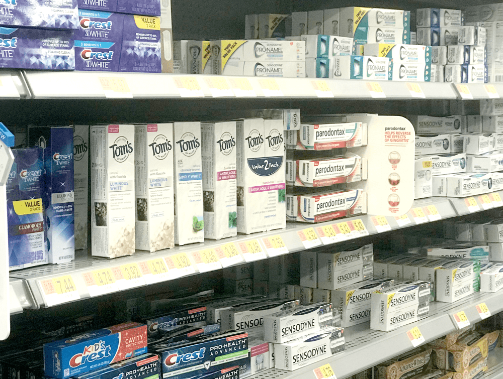 Toms of Maine toothpaste at Walmart