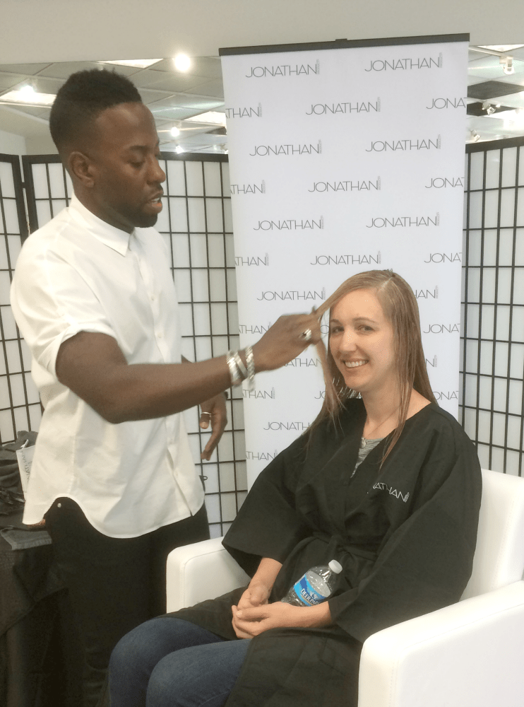 "Getting a hair makeover by celebrity stylist Johnny Wright is one of those ""right place; right time"" opportunities."