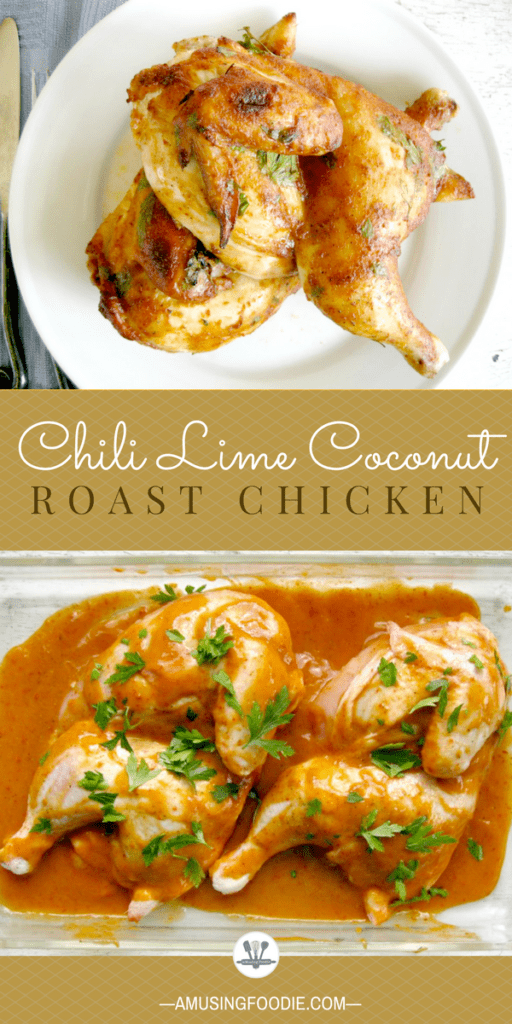 This chili lime coconut roast chicken with only five ingredients is super simple to make!