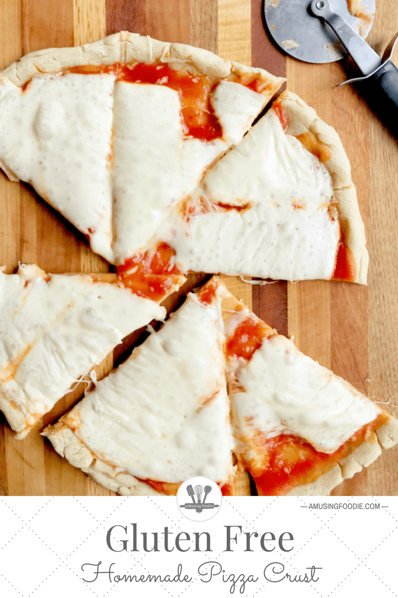 This homemade gluten free pizza crust is really simple to make!