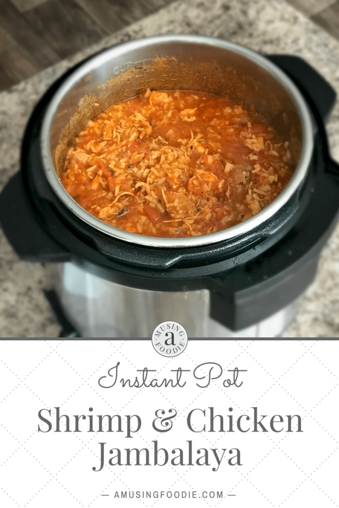 This shrimp and chicken jambalaya made in an Instant Pot is a simple and unique take on the traditional, melt-in-your-mouth savory stew.