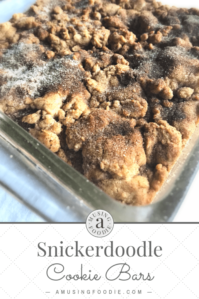 Snickerdoodle cookie bars are soft, chewy, packed with a the perfect amount of sweet cinnamon-sugar zing and so simple to make!
